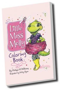 Little Miss Molly, coloring book, children's author, author school visits, creativity literacy expert